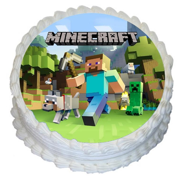 Minecraft Edible Image Cake Decorating Shore Cake Supply Ocean