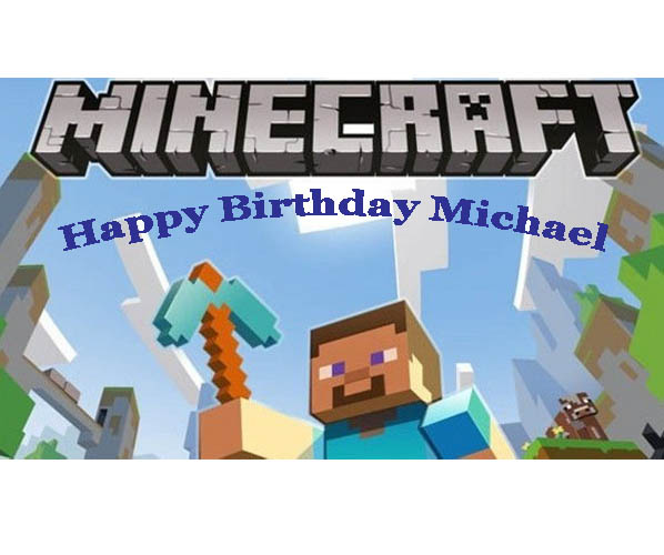 Cake Decorating Store Nj : Minecraft Edible Image Cake Decorating Shore Cake Supply ...