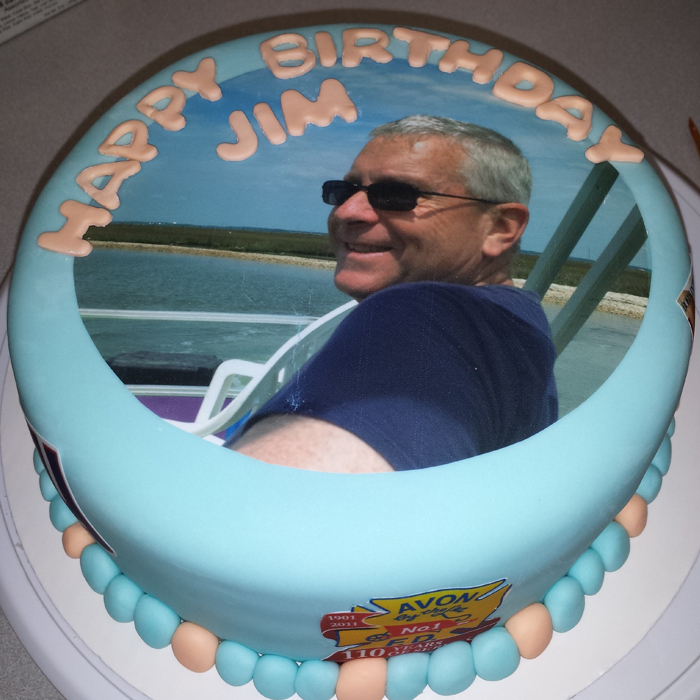 Custom Edible Image Printing Shore Cake Supply Ocean ...