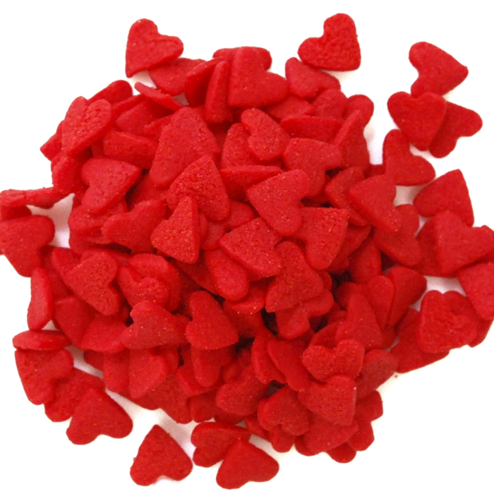 Jumbo Red Hearts Edible Confetti