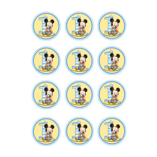 Baby Mickey Mouse Edible Cupcake Toppers Shore Cake Supply