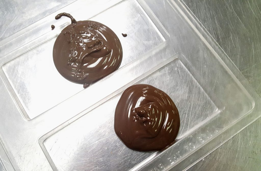 melted chocolate, chocolate, melted, candy making, molds