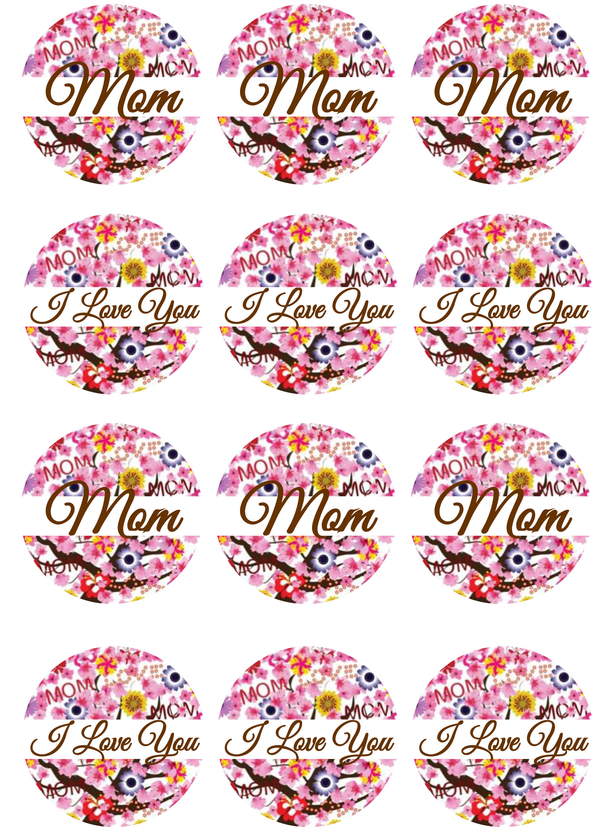 Mother's Day Floral Cupcake Toppers | Shore Cake Supply