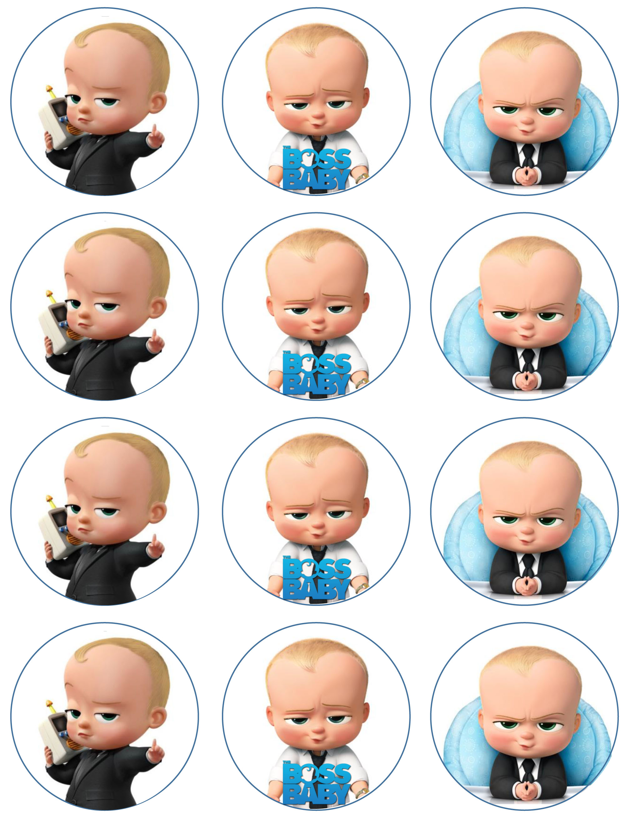Boss Baby Cupcake Toppers